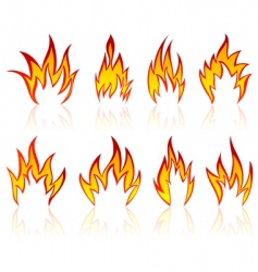 flame designs vector image vector image
