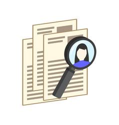 hr management recruitment candidate symbol flat vector image vector image