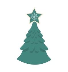 Isolated pine tree of Christmas season design vector image vector image