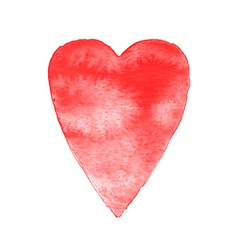 Red watercolor heart isolated vector image
