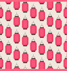 seamless pattern with flat lantern vector image