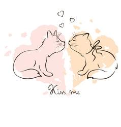 - love cats vector