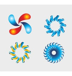 Abstract graphic distort twirl effect vector