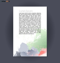 Abstract print A4 design with colored brush stroke vector