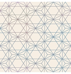 Abstract Seamless Geometric Hexagon Pattern Mesh vector