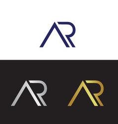 Ar logo vector