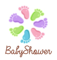 Bashower feet emblem vector