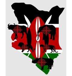 Big Five Kenya cross lines vector image