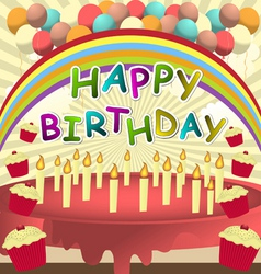 birthday card vector template vector image