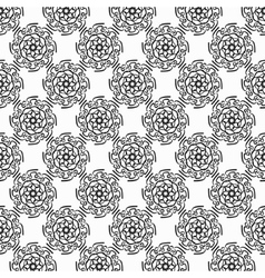 Black circular hand-drawn pattern on white vector