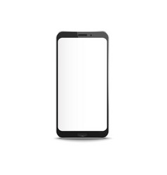 black smartphone with blank white screen vector image