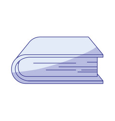 Blue shading silhouette of thick book vector