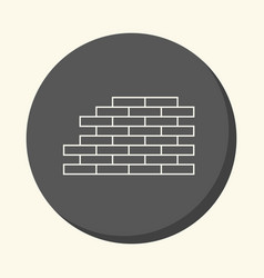 brickwork round linear icon with the vector image