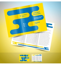 Brochure design template leaflet abstract vector