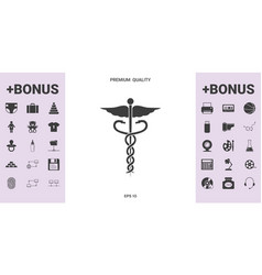 Caduceus medical symbol - graphic elements for vector