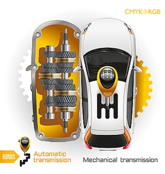 Car Transmission vector image