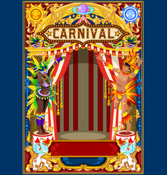 Carnival poster for mardi gras vector