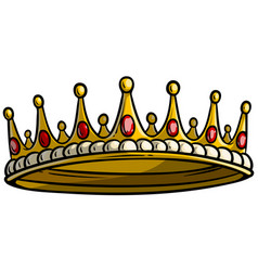 cartoon golden royal king crown vector image