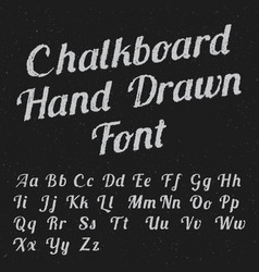 Chalkboard hand drawn font poster vector