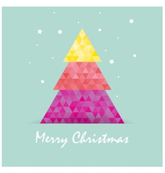 Christmas postcard template vector image