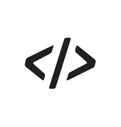 code icon in flat style icon for apps ui websites vector image