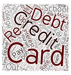 College Grads Wave Goodbye To Credit Card Debt vector
