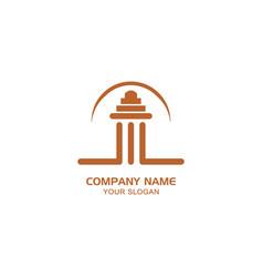 Creative logo temple vector