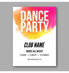 Dance Party Poster Template Night Dance Party vector