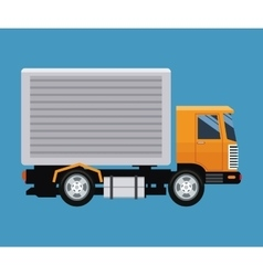 delivery concept truck transport blue background vector image
