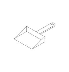 Dustpan icon isometric 3d style vector