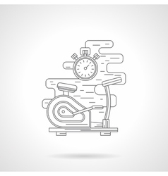 Exercise bike flat line icon vector image