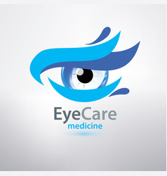 eye care logo template stylized symbol of optical vector image