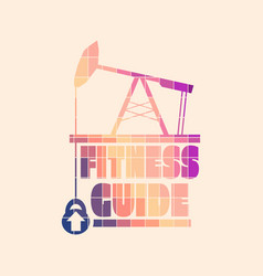 fitness guide concept vector image