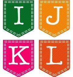 Four letters I j K L vector image