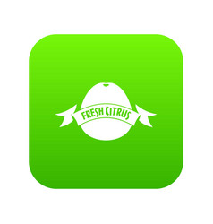 fresh citrus icon green vector image