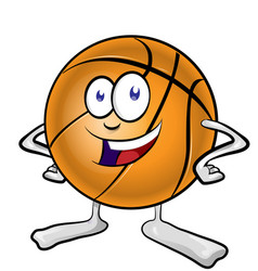 fun basketball mascot cartoon vector image