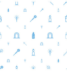 Glowing icons pattern seamless white background vector