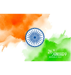 Happy republic day india creative watercolor vector