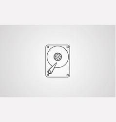 hard disk icon sign symbol vector image