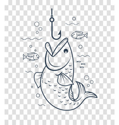 icon fishing with an open mouth vector image