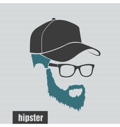 icons hairstyles beard and mustache hipster full vector image
