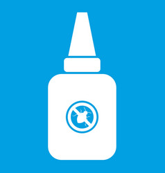 Insect spray icon white vector