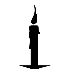 isolated candle silhouette vector image