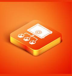 Isometric prostake icon isolated on orange vector