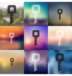 Key icon on blurred background vector