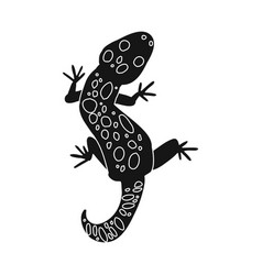 Lizard and gecko sign set vector