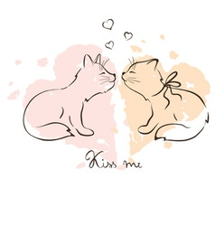 - love cats vector