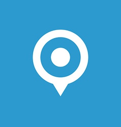 map pin icon white on the blue background vector image