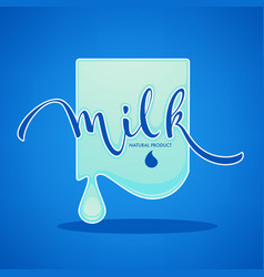 milk and dairy product logo label emblem with vector image