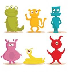 monsters cartoons vector image
